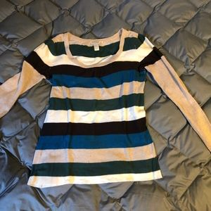 Maurices Striped Scoopneck Sweater